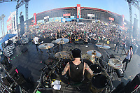 03/17/19 Fontana, CA: <br />  SUM 41 performs before the Auto Club 400 at the Auto Club Speed Way in Fontana, CA