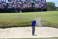 Zach Johnson (USA) chips from a bunker at the 7th green during Saturday's Round 3 of the 118th U.S. Open Championship 2018, held at Shinnecock Hills Club, Southampton, New Jersey, USA. 16th June 2018.<br /> Picture: Eoin Clarke | Golffile<br /> <br /> <br /> All photos usage must carry mandatory copyright credit (&copy; Golffile | Eoin Clarke)