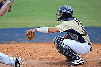 18 March 2012:  FIU catcher Aramis Garcia (44) watches the ball as the Florida Atlantic University Owls defeated the FIU Golden Panthers, 9-3, at University Park in Miami, Florida.