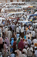Crowds in Souq Al-Arabi, central Khartoum.