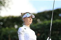 Nelly Korda (USA) tees off the 14th tee during Friday's Round 2 of The Evian Championship 2018, held at the Evian Resort Golf Club, Evian-les-Bains, France. 14th September 2018.<br /> Picture: Eoin Clarke | Golffile<br /> <br /> <br /> All photos usage must carry mandatory copyright credit (&copy; Golffile | Eoin Clarke)