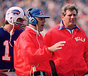 Buffalo BIlls Head Coach Lou Saban during a game from his 1975 season with the Buffalo BIlls.  Lou Saban head coached for 16 seasons with 3 different teams. As a player Lou Saban played for 4 season with Cleveland Brown.(SportPics)