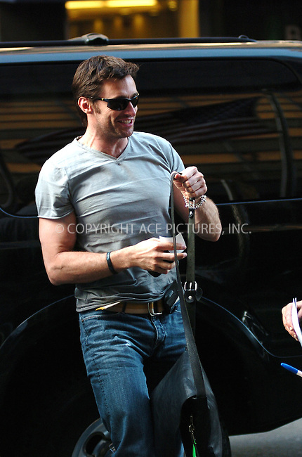 WWW.ACEPIXS.COM . . . . . ....July 2006, New York City. ....NY Candids: Hugh Jackman ....Please byline: ALI GOLDSTEIN - ACEPIXS.COM.. . . . . . ..Ace Pictures, Inc:  ..(212) 243-8787 or (646) 769 0430..e-mail: info@acepixs.com..web: http://www.acepixs.com