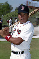 Boston Red Sox Carlos Quintana during spring training circa 1990 at Chain of Lakes Park in Winter Haven, Florida.  (MJA/Four Seam Images)