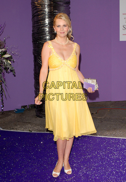 DEBRA STEPHENSON.Arrivals at the British Soap Awards 2007, .BBC Television Centre, London, England,.May 26, 2007. .full length  yellow dress deborah stevenson.CAP/IL.©Ian Leonard/Capital Pictures.