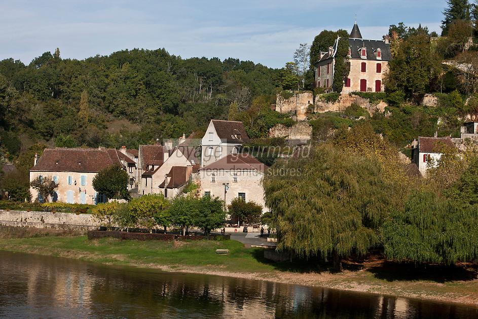 Europe/France/Aquitaine/24/Dordogne/Limeuil: Le village sur les bords de la dordogne