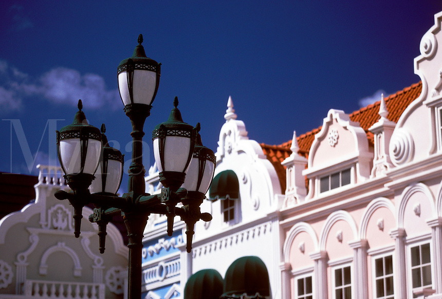 Oranjestad Aruba part of the Dutch West Indies.