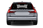 Straight rear view of 2017 Volvo V90 Inscription 5 Door Wagon Rear View  stock images