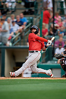 Pawtucket Red Sox Bryce Brentz (25) at bat during an International League game against the Rochester Red Wings on June 28, 2019 at Frontier Field in Rochester, New York.  Pawtucket defeated Rochester 8-5.  (Mike Janes/Four Seam Images)