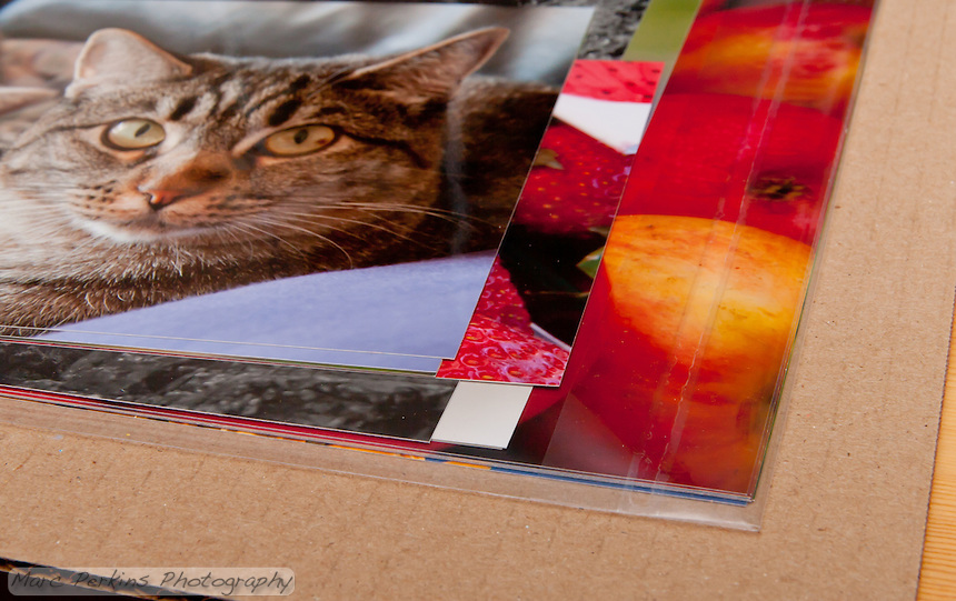 BWC Photo Imaging (http://www.bwc.net) packaged all of prints smaller than 10x15 in a flat box; the larger of those