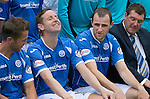St Johnstone FC Photocall, 2015-16 Season....03.08.15<br /> Chris Maillr, Steven MacLean and Dave Mackay having fun at todays photocall<br /> Picture by Graeme Hart.<br /> Copyright Perthshire Picture Agency<br /> Tel: 01738 623350  Mobile: 07990 594431