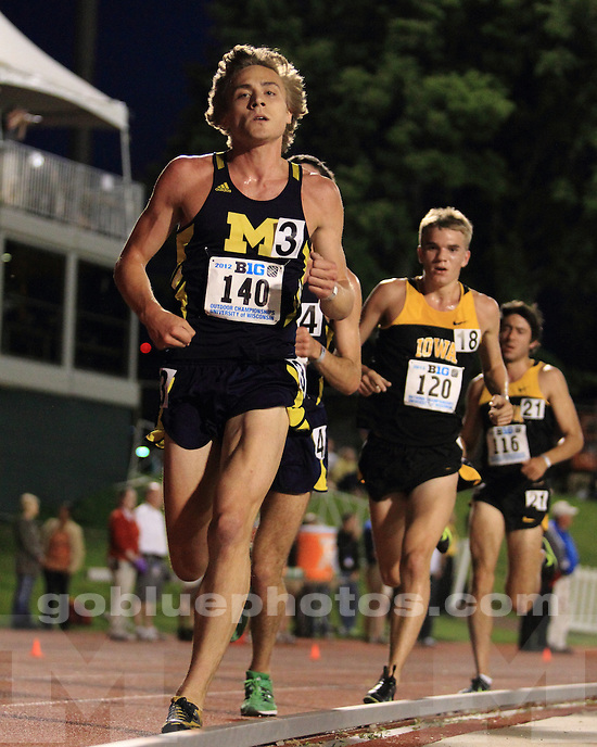 The University of Michigan men's track & field team finished day 1 in third place in the Big Ten Championships in Madison, Wisc., on May 11, 2011.