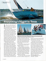 Article and three photos by Ken Hurst published in Sailing magazine July 2011 issue.