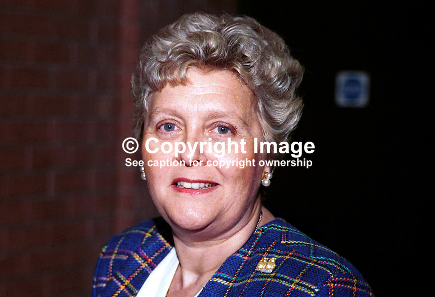 Baroness Chalker, aka Lynda Chalker, Conservative Party Life Peer, Britain, UK. Photograph taken at 1996 Conservative Party Conference in Bournemouth. Ref: 199610267.<br /> <br /> Copyright Image from Victor Patterson, 54 Dorchester Park, Belfast, UK, BT9 6RJ<br /> <br /> t1: +44 28 9066 1296 (from Rep of Ireland 048 9066 1296)<br /> t2: +44 28 9002 2446 (from Rep of Ireland 048 9002 2446)<br /> m: +44 7802 353836<br /> <br /> e1: victorpatterson@me.com<br /> e2: victorpatterson@gmail.com<br /> <br /> The use of any of my copyright images is subject to my Terms &amp; Conditions. It is IMPORTANT that you familiarise yourself with them. They are available at my website, victorpatterson.com.<br /> <br /> None of my copyright images may be used on the Internet unless they are visibly watermarked, i.e. &copy; Victor Patterson within the body of the image. My metadata, denoting my copyright must NOT be deleted. <br /> <br /> Web use is extra at currently recommended NUJ rates. Maximum permitted web size is<br />  400kb. <br /> <br /> Images must not be passed on to a third party - they are for the use of the authorised recipient only.
