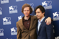Jake Paltrow, left, and Noah Baumbach attend a photocall for the documentary movie 'De Palma' and the 'Jaeger-LeCoultre Glory' award to the Filmmaker 2015 during the 72nd Venice Film Festival at the Palazzo Del Cinema in Venice, Italy, September 9, 2015.<br /> UPDATE IMAGES PRESS/Stephen Richie