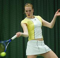10-3-06, Netherlands, tennis, Rotterdam, National indoor junior tennis championchips, Marlies Vermeulen