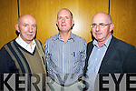 Gerard Lucy (Ballydesmond National School) Sean Ó Catháin (Cill Mhic A Domhnaigh, Cean Tra, Ventry) and Seamus Seachnasaigh (Scoil Realt na Mara, Cromane) pictured at a meeting on school cuts in the Brandon hotel on Monday evening.