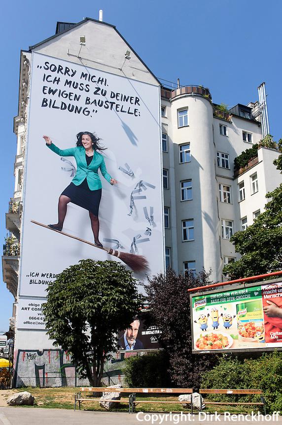 Wahlplakat auf der Linken Wienzeile, Wien, &Ouml;sterreich<br /> Billboard at Linke Wienzeile, Vienna, Austria