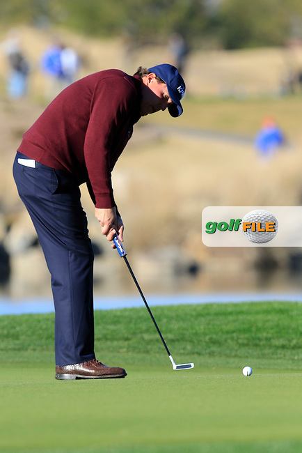 Phil Mickelson (USA) putts on 17th green during Saturday's Round 3 of the 2017 CareerBuilder Challenge held at PGA West, La Quinta, Palm Springs, California, USA.<br /> 21st January 2017.<br /> Picture: Eoin Clarke | Golffile<br /> <br /> <br /> All photos usage must carry mandatory copyright credit (&copy; Golffile | Eoin Clarke)