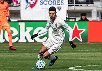 WASHINGTON, DC - FEBRUARY 29: Younes Namli #21 of the Colorado Rapids on the attack during a game between Colorado Rapids and D.C. United at Audi Field on February 29, 2020 in Washington, DC.