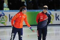 SPEED SKATING: STAVANGER: Sørmarka Arena, 31-01-2016, ISU World Cup, 1000m Ladies Division A, Margot Boer (NED), Karolina Erbanová (CZE), ©photo Martin de Jong