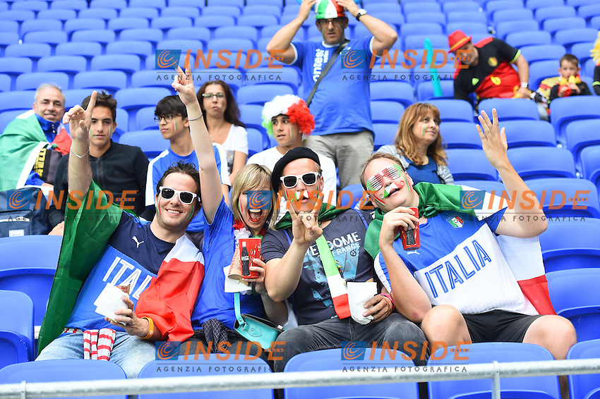 Tifosi Italia Supporters <br /> Lyon 13-06-2016 Grand Stade de Lyon Football Euro2016 Belgium-Italy / Belgio-Italia Group Stage Group E. Foto Massimo Insabato / Insidefoto