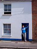 ENGLAND, Brighton, Man in Blue Jacket on Upper gardner Street
