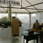 On May 11, 2011, earthquake of magnitude 9.0 and devastating tsunami hit the Tohoku area, killing more than 15,000 people and missing more than 5,000 people. Funeral for unidentifies bodies by Japanese Buddhist monks in Rinkuzantakata, Iwate.