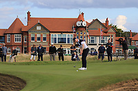 Euan Walker (GB&I) on the 16th during Day 2 Singles at the Walker Cup, Royal Liverpool Golf CLub, Hoylake, Cheshire, England. 08/09/2019.<br /> Picture Thos Caffrey / Golffile.ie<br /> <br /> All photo usage must carry mandatory copyright credit (© Golffile | Thos Caffrey)