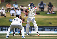 25th November 2019; Mt Maunganui, New Zealand;  Joe Root plays the ball to Tom Latham at slip International test match day 5 of 1st test, New Zealand versus England;  at Bay Oval, Mt Maunganui, New Zealand.