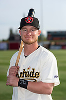 Visalia Rawhide infielder Camden Duzenack (1) poses for a photo before a game against the Rancho Cucamonga Quakes at Rawhide Ballpark on April 8, 2019 in Visalia, California. (Zachary Lucy/Four Seam Images)