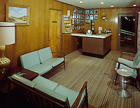 Crown Motel, Wildwood, NJ. - 1964 - Wood paneling in the motel office