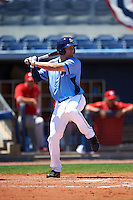 Charlotte Stone Crabs right fielder Cade Gotta (20) at bat during a game against the Palm Beach Cardinals on April 10, 2016 at Charlotte Sports Park in Port Charlotte, Florida.  Palm Beach defeated Charlotte 4-1.  (Mike Janes/Four Seam Images)
