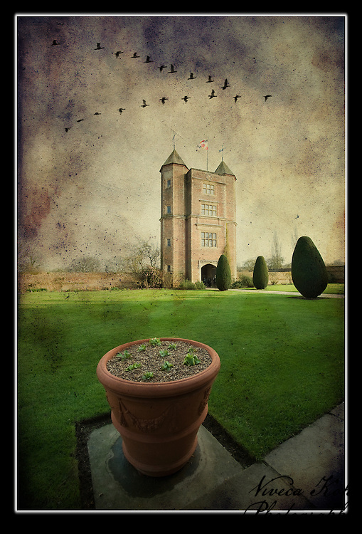 The Elizabethan Tower at Sissinghurst Castle Garden in Kent, United Kingdom - in Spring with birds http://www.vivecakohphotography.co.uk/2011/11/05/magic-castle/