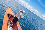 Deep sea fishing off the coast of Kiritimati in Kiribati
