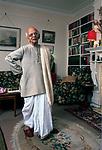 Nirad Chaudhuri at  home, 20 Lathbury road  Oxford 1990 UK