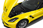 Car Stock 2017 Chevrolet Corvette Grand-Sport-3LT 2 Door Convertible Engine  high angle detail view