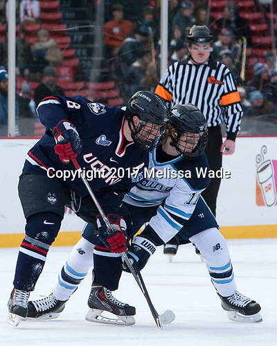 Spencer Naas (UConn - 8), Mitchell Fossier (Maine - 11) - The University of Maine Black Bears defeated the University of Connecticut Huskies 4-0 at Fenway Park on Saturday, January 14, 2017, in Boston, Massachusetts.