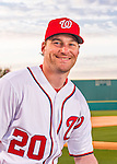 28 February 2016: Washington Nationals second baseman Daniel Murphy poses for his Spring Training Photo-Day portrait at Space Coast Stadium in Viera, Florida. Mandatory Credit: Ed Wolfstein Photo *** RAW (NEF) Image File Available ***