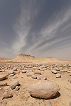 Israel, the Negev. The Bulbus field in front of Mount Zin