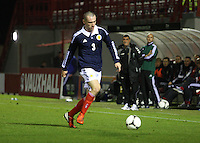 Jospeph Chalmers in the Scotland v Armenia UEFA European Under-19 Championship Qualifying Round match at New Douglas Park, Hamilton on 9.10.12.