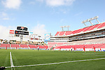 15 March 2008: Panama warms up before the game. The Panama U-23 Men's National Team defeated the Cuba U-23 Men's National Team 4-1 at Raymond James Stadium in Tampa, FL in a Group A game during the 2008 CONCACAF's Men's Olympic Qualifying Tournament.