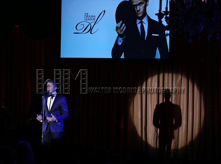 David Burtka performs during the Drama League's 30th Annual 'Musical Celebration of Broadway' honoring Neil Patrick Harris at the Pierre Hotel on February 3, 2014 in New York City.
