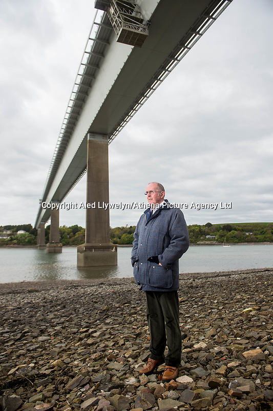 Friday 28 April 2017<br /> Pictured: Phill Lloyd<br /> Re: Phill Loyd who was the first person on the scene when the Cleddau bridge collapsed during it's construction. On 2 June 1970 a 70 m (230 ft) cantilever being used to put one of the 150-ton sections into position collapsed on the Pembroke Dock-side of the estuary narrowly missing houses in the village of Pembroke Ferry