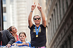 10 July 2015: Abby Wambach. The United States Women's National Team was honored with a parade down New York City's Canyon of Heroes for winning the FIFA 2015 Women's World Cup in Canada.