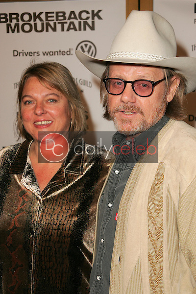 """William Sanderson and wife Sharon<br />at the premiere of """"Brokeback Mountain"""". Mann National Theatre, Westwood, CA. 11-29-05<br />Dave Edwards/DailyCeleb.com 818-249-4998"""
