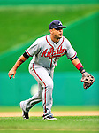 26 September 2010: Atlanta Braves infielder  Martin Prado in action against the Washington Nationals at Nationals Park in Washington, DC. The Nationals defeated the pennant-seeking Braves 4-2 to take the rubber match of their 3-game series. Mandatory Credit: Ed Wolfstein Photo
