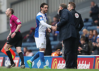 Blackburn Rovers' Danny Graham is substituted in the 78th minute<br /> <br /> Photographer Rachel Holborn/CameraSport<br /> <br /> The EFL Sky Bet League One - Blackburn Rovers v Southend United - Saturday 7th April 2018 - Ewood Park - Blackburn<br /> <br /> World Copyright &copy; 2018 CameraSport. All rights reserved. 43 Linden Ave. Countesthorpe. Leicester. England. LE8 5PG - Tel: +44 (0) 116 277 4147 - admin@camerasport.com - www.camerasport.com