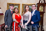 Enjoying the Mercy Mounthawk Debs at Ballyroe Heights Hotel on Tuesday were Ci&aacute;n Kennedy, Nenna Duggan, <br /> Nell Burke, Jamie Bourke