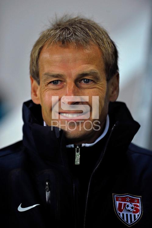 Jurgen Klinsmann, coach of team USA, during the friendly match Slovenia against USA at the Stozice Stadium in Ljubljana, Slovenia on November 15th, 2011.